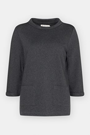 Bareroot Sweatshirt. Roll Neck Relaxed Jumper - Seasalt