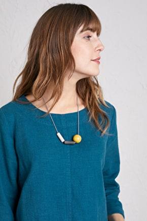 Sea Reach Necklace, Tonal Resin Beaded Necklace - Seasalt Cornwall