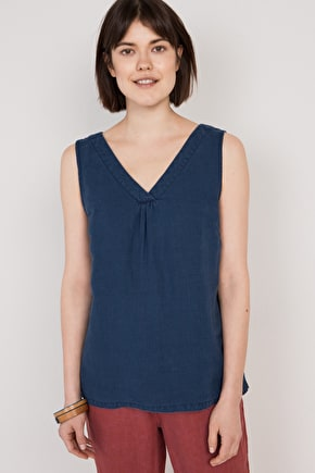 Colvithick Wood Womens Linen Vest Top - Seasalt