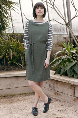 Scenic View Pinafore Dress