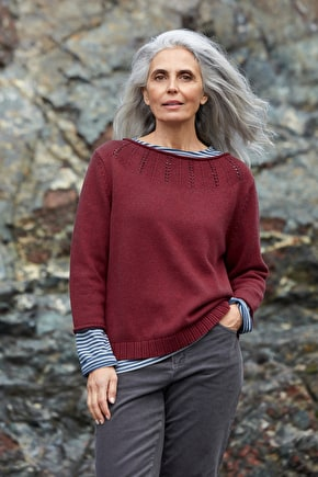 Lovage Jumper, Cotton & Wool Knitted Jumper