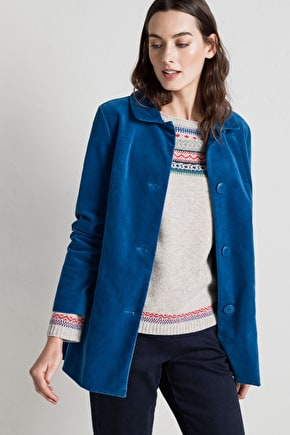 Beautifully Soft Velvet Winter Coat - Seasalt