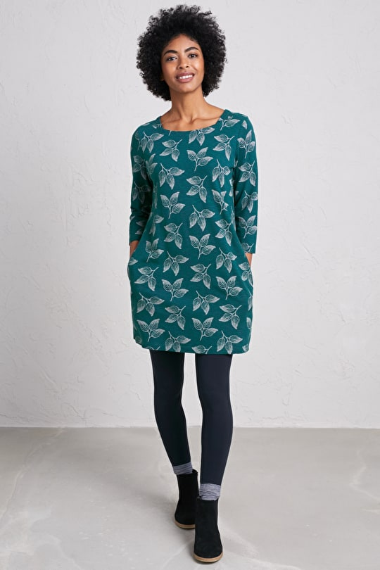 Rocky Path Tunic - Cotton Slub Jersey Tunic - Seasalt Cornwall