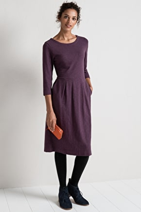 Gilliflower Dress. Long Soft Cotton Jersey - Seasalt