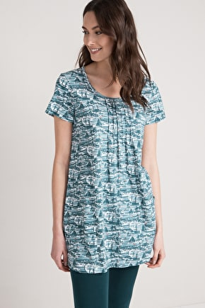 Busy Lizzy Tunic, Organic Cotton Slub Jersey Tunic Top  - Seasalt