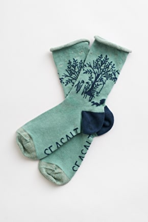 Festive Feet Socks, Organic Cotton Sparkley Socks - Seasalt Cornwall
