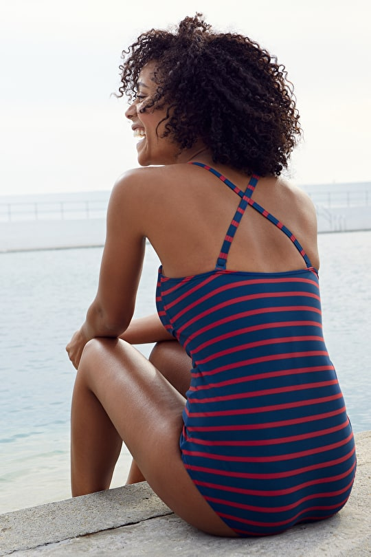 Basking Swimsuit, Elegant '50s-style Swimsuit - Seasalt