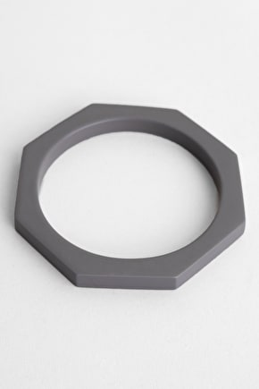 Producer Bangle, Polished Matt Resin Octagon Bangle