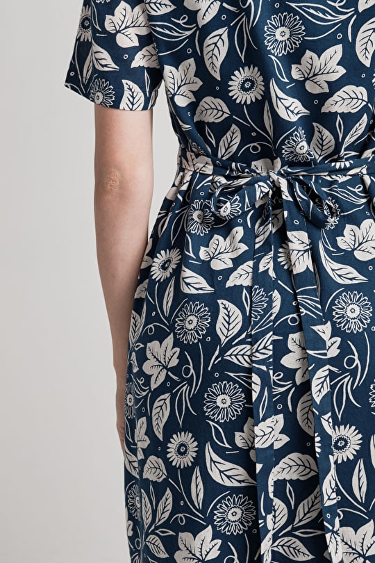 Northdown Dress, 100% Cotton Knee-length Shift Dress - Seasalt