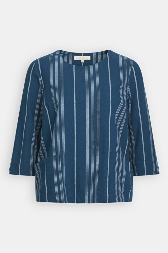 Merriment Top, Striped Breathable Cotton Top - Seasalt Cornwall