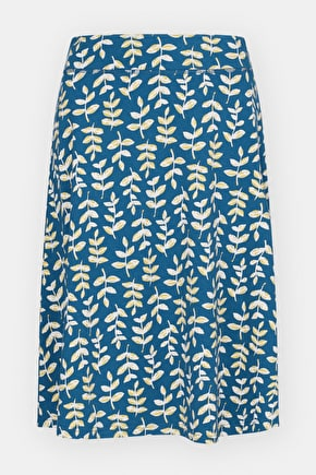 Printed Organic Cotton Jessica Grace A-line Skirt - Seasalt