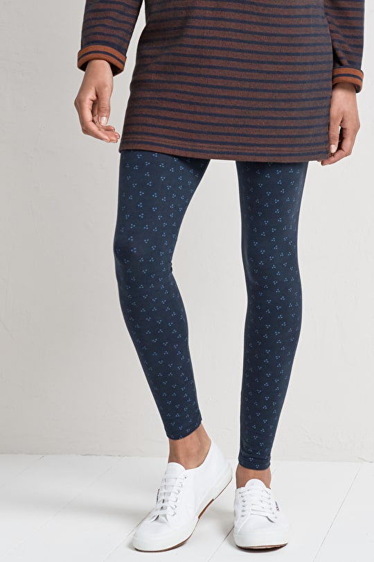Minerals Leggings. Patterned Cotton Ankle Length - Seasalt
