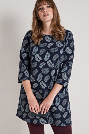 Calmwater Tunic Top. In Super Soft Printed Cotton - Seasalt