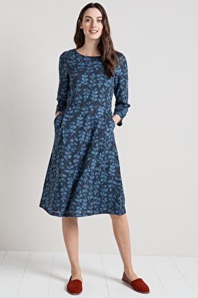 Elegant Cotton Shift Dress. In Unique Seasalt Prints