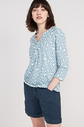 Castor, Organic Cotton Jersey 3/4 Length Top - Seasalt