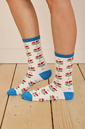 Women's Floral Feet Socks