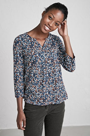 Castor Top, Organic Cotton Jersey 3/4 Length Shirt