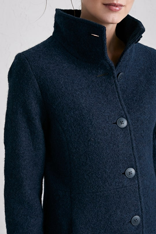 Falmouth Dawn Coat - Beautiful Boiled Wool Coat - Seasalt Cornwall