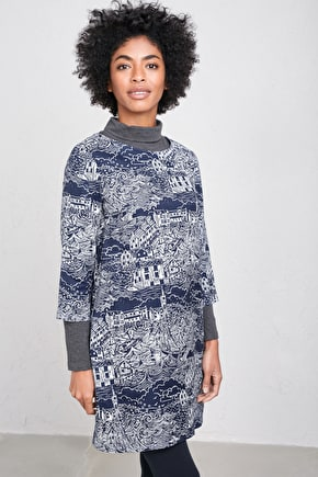 Setting Sail Tunic, Drapey Cotton Viscose Tunic - Seasalt Cornwall