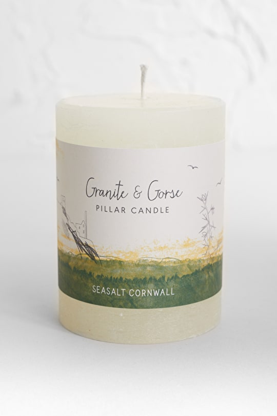 Granite & Gorse Pillar Candle - Seasalt Cornwall
