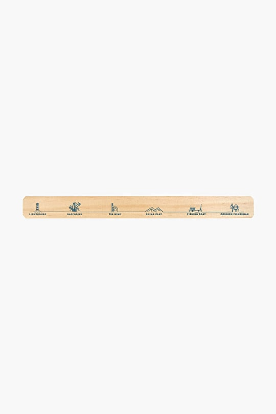 Company Ruler | Wooden 30 cm ruler | Seasalt