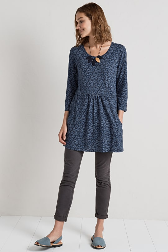St Erth Tunic, Scoop Neck Cotton Tunic Top - Seasalt