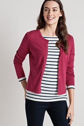Gwennap Cardigan. Cheerful Cotton & Wool Blend Cardigan - Seasalt