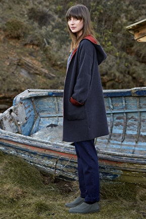 Homestead Coatigan, Heavyweight Hooded Jacket - Seasalt Cornwall