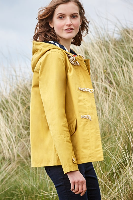 Original Seafolly Jacket. Short Lightweight Yellow Tin Cloth Womens Coat, Outdoor Lifestyle Photo