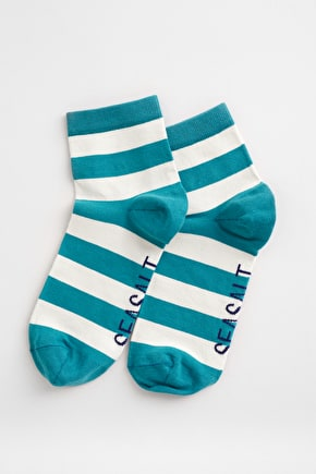 Womans Striped Ankle Socks, Soft Organic Cotton - Seasalt Cornwall