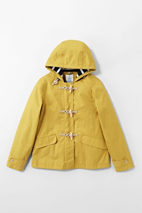 Original Seafolly Jacket. Short Lightweight Yellow Tin Cloth Women Coat, Studio Flat Photo.