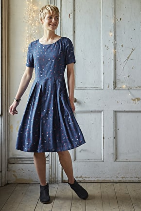 Lantern Parade Dress, Cotton Twill Long Dress - Seasalt Cornwall