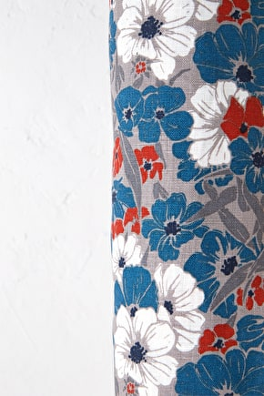Printed Linen Fabric - Seasalt
