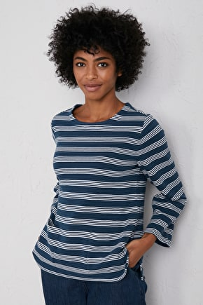 Canning Sweatshirt, Striped Cotton Jumper - Seasalt