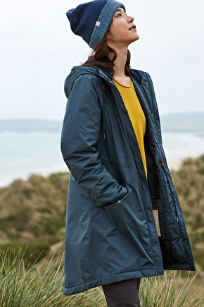 Long Waterproof Jacket. Quilted & Tested In Cornwall - Seasalt