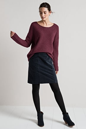Flattering Moleskin Skirt. A-line & Above The Knee - Seasalt
