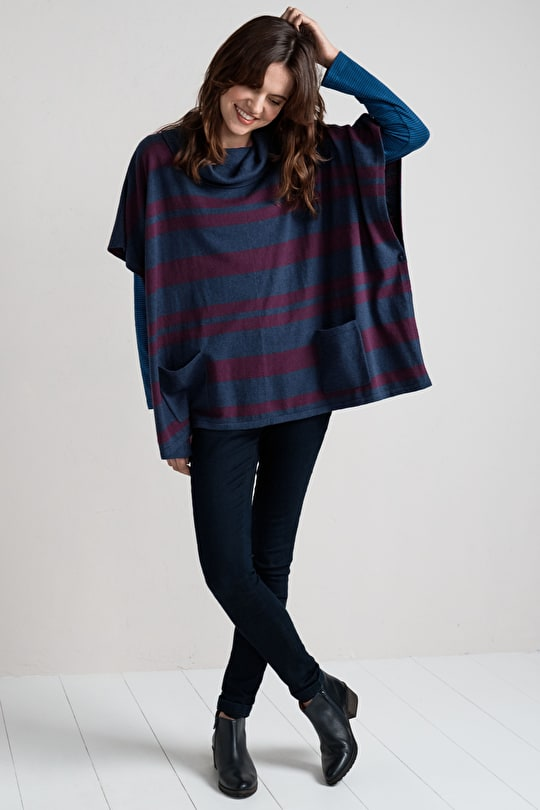 Handsome Poncho. Lovely & Drapey & Very Comfy - Seasalt