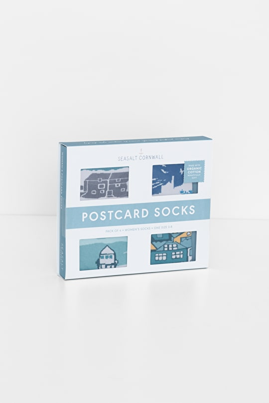 Four Pairs of Organic Cotton Socks - Seasalt