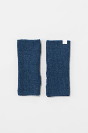 Reversible Mittens. In Cosy Merino Cashmere Blend - Seasalt