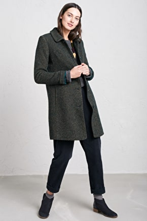 Wood Cabin Coat, Handsome Warm Wool Coat  - Seasalt Cornwall