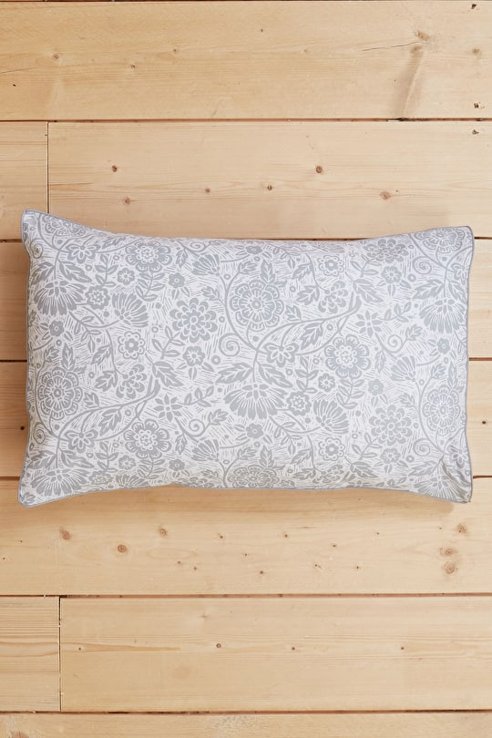 Luxury Cotton Printed Chambray Pillowcase - Seasalt