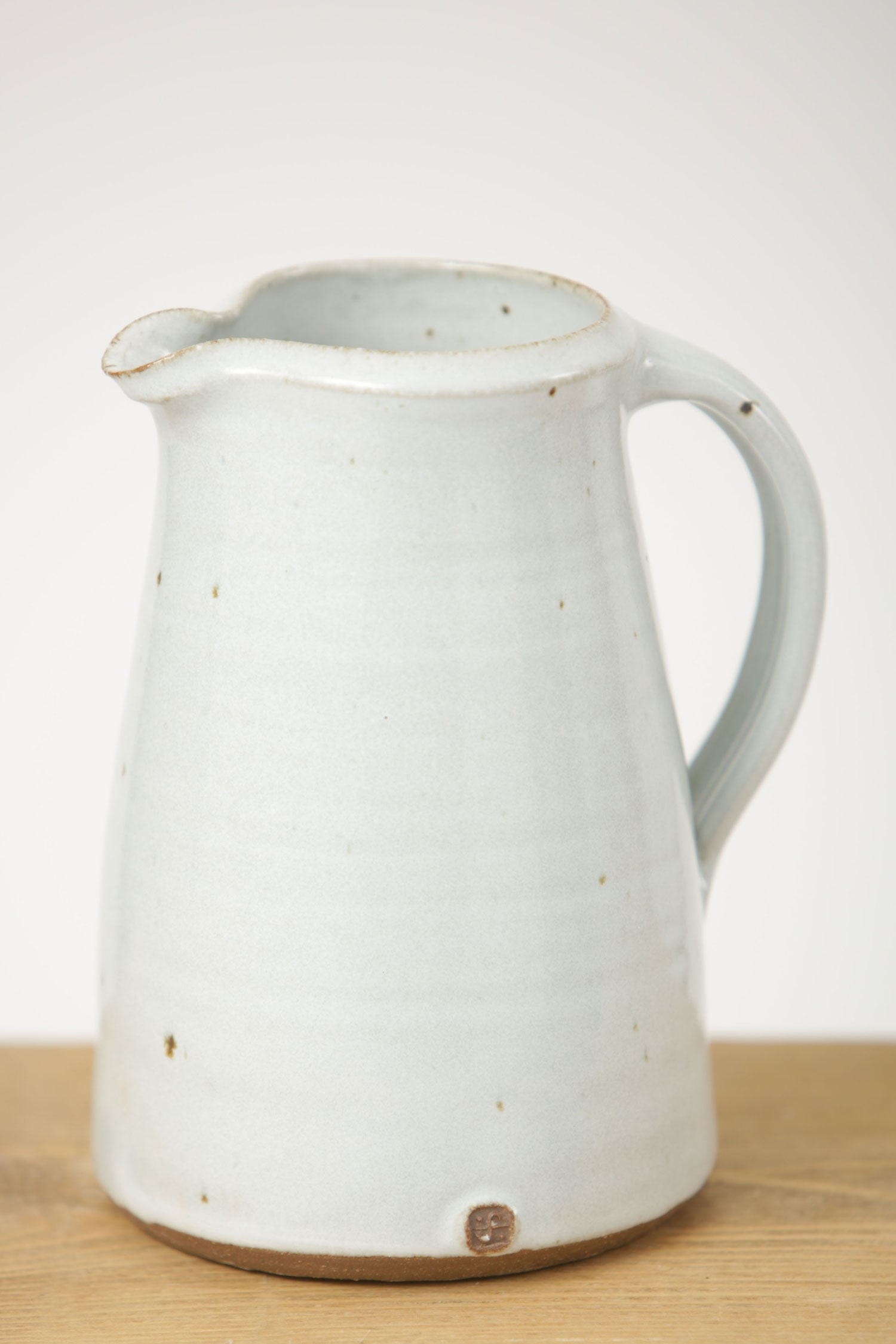 Leach Jug Small Glazed Clay Jug Seasalt