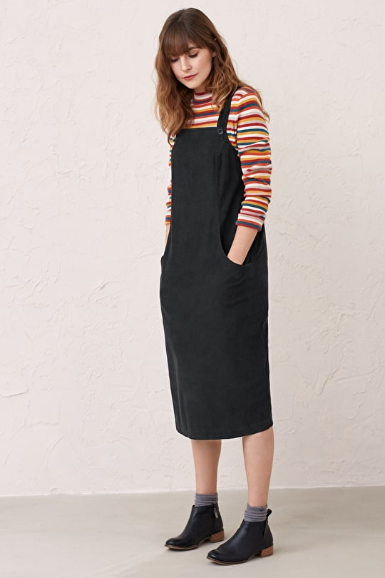 Free Writing Pinafore Needlecord Dress, Relaxed Fit - Seasalt Cornwall