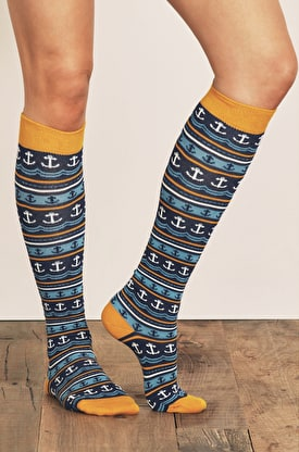 Womens Sailor Socks Long