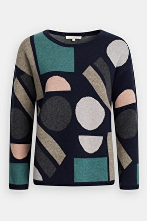 Polkerris Jumper, Easy Fit Expressionist Patterned - Seasalt Cornwall