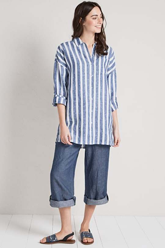 Tremenheere Shirt, Loose Fitting Linen Shirt - Seasalt