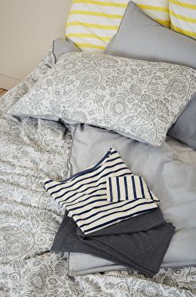 Print & Chambray Cotton Duvet Cover