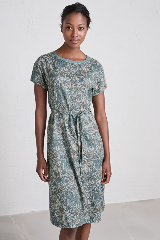 Flower Show Dress, A-line Cotton Twill Dress  - Seasalt Cornwall