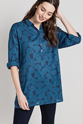100% Cotton Womens Long Shirt ,Polpeor Shirt - Seasalt