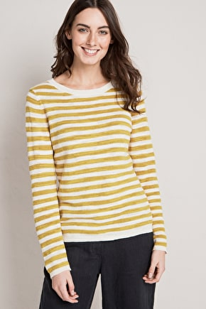 Goosander Jumper, Breton Striped Cotton Sweater - Seasalt